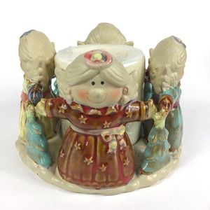 Angel Candle Holder Circle Of Friends ceramic